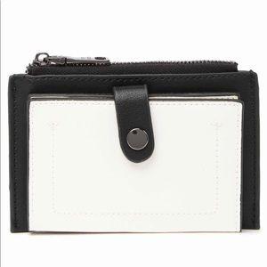 Steve Madden Black&White Color-block Purse/ Wallet